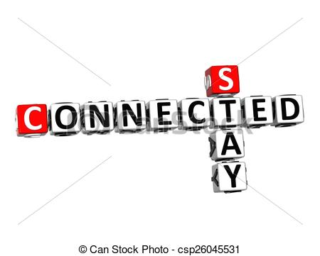 Stay connected clipart.