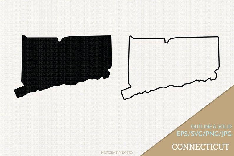 Connecticut Vector State Clipart CT Clip Art Connecticut.