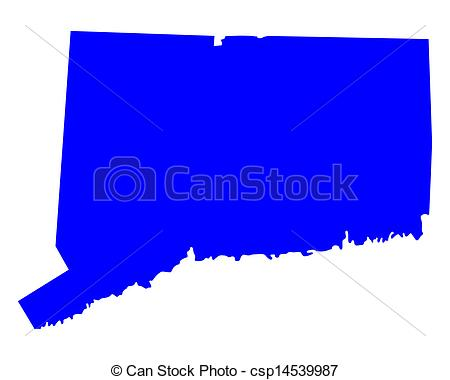 Vector of Map of Connecticut csp14539987.