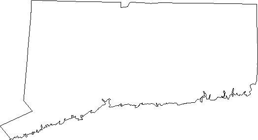 US Outline Maps : connecticut : Classroom Clipart.
