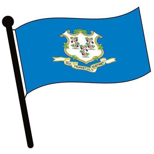 Connecticut flag clipart.