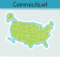 Fifty US States: Connecticut Clipart.