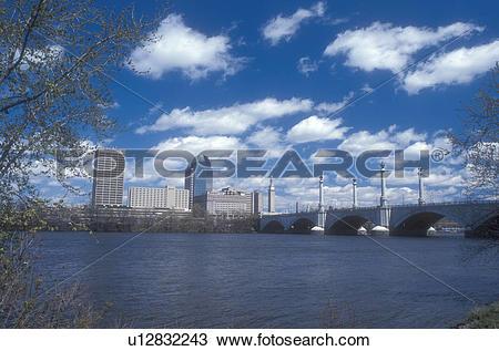Stock Photo of Massachusetts, Connecticut River, Springfield.