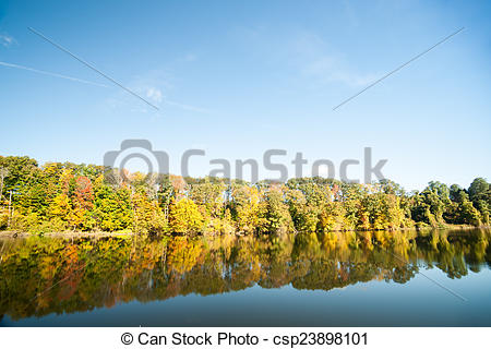Stock Photography of Connecticut River in fall..