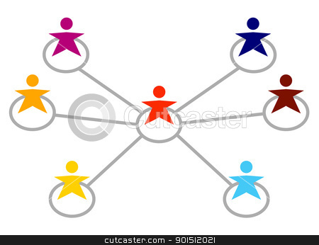 Connecting with people clipart.