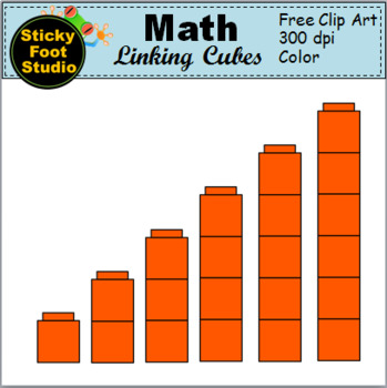 Math Linking Cubes Clip Art.