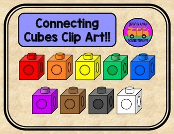 Connecting Cubes Clip Art.