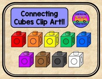 Connecting Cubes Clip Art.