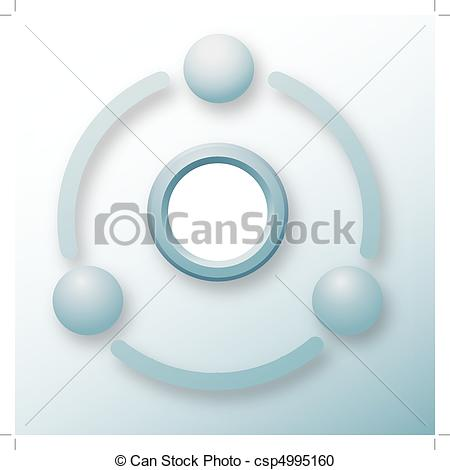 Vector Clipart of Connection elements technology cycle abstract.