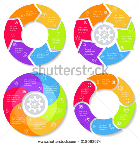 Vector Arrows Pentagon Circles Other Elements Stock Vector.