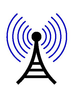 Free Clipart of Radio Wireless Tower Cor.