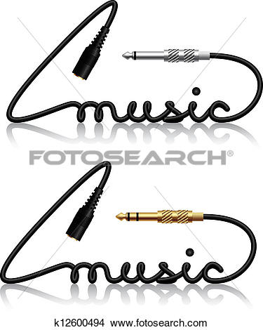 Clipart of vector jack connectors music calligraphy k12600494.