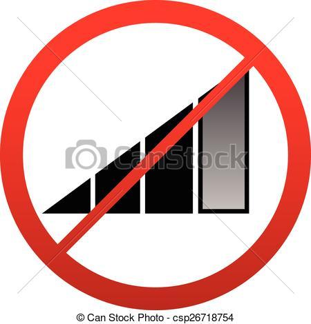 Vecteur Clipart de signe, non, signal, Antenne, Interférence.
