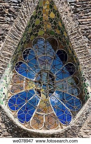 Picture of Church of Colonia Guell in Barcelona, Spain Antoni.
