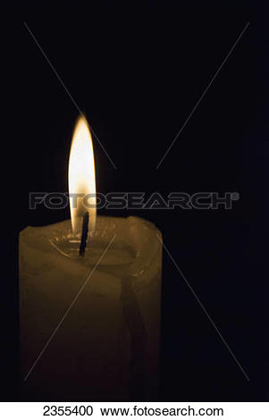 Stock Photography of Candle Burning In The Dark; Colonia Del.