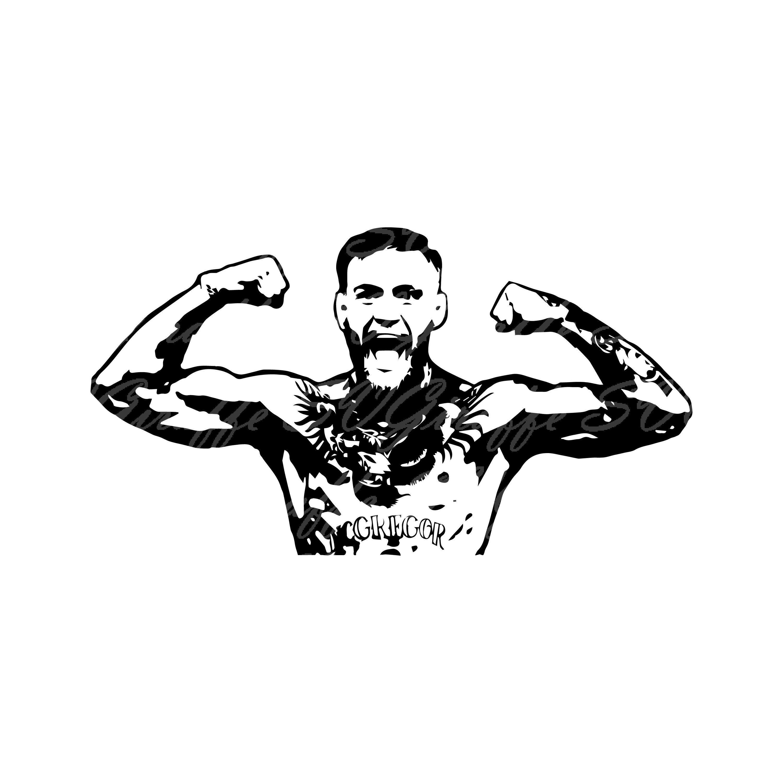 Conor McGregor Svg jpg png dxf pdf files.