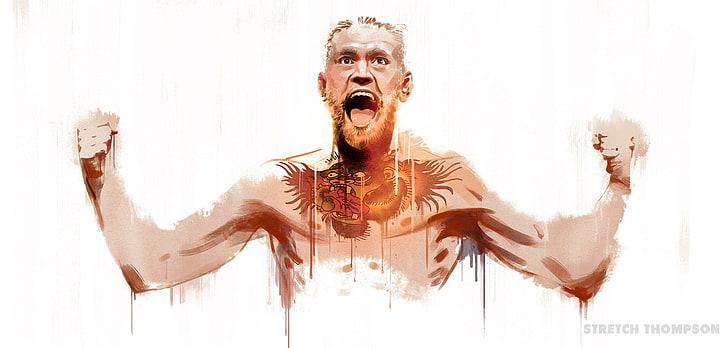 HD wallpaper: Conor McGregor clip art, UFC, men, people, one.