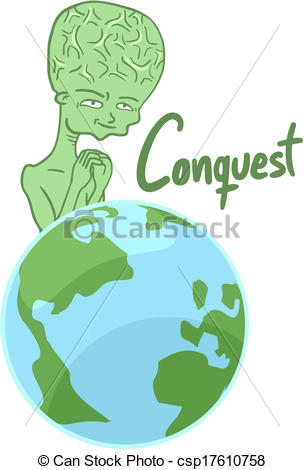 Clip Art Vector of Conquest world.