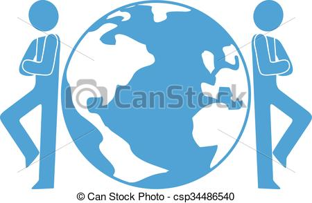 EPS Vector of world conquest symbol.
