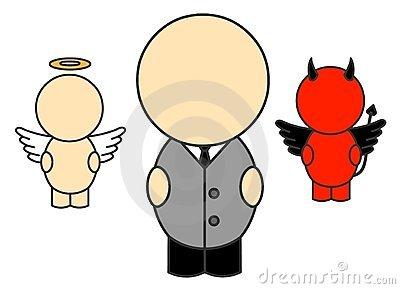 Good Bad Conscience Stock Illustrations.