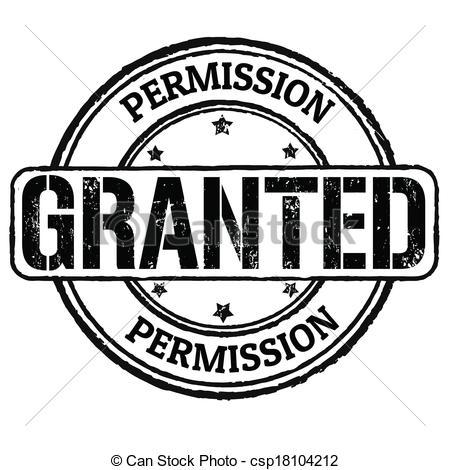 Permission cliparts.