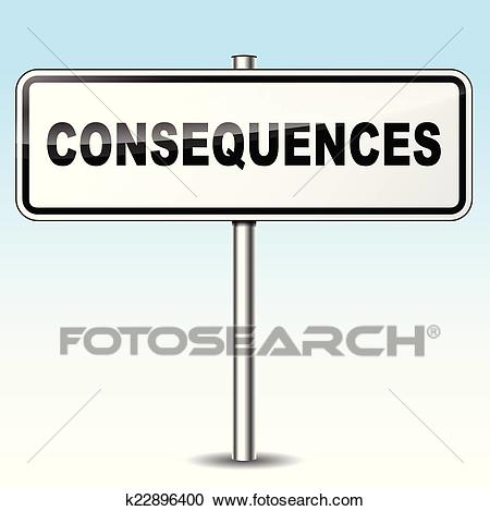 Consequences sign Clipart.