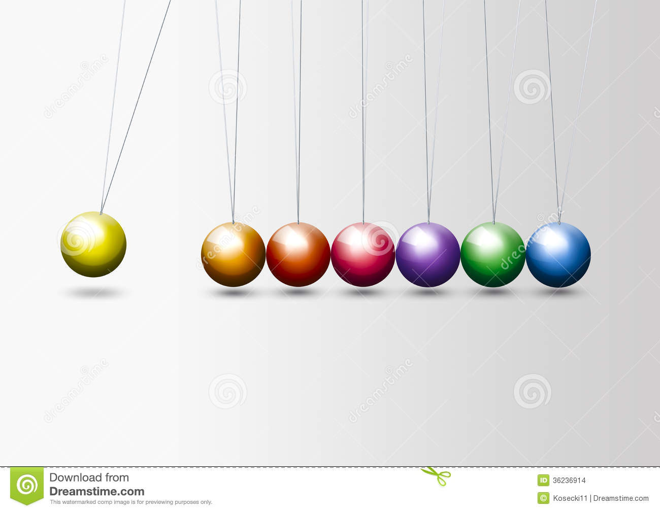 Colorful Newton's Cradle Stock Images.