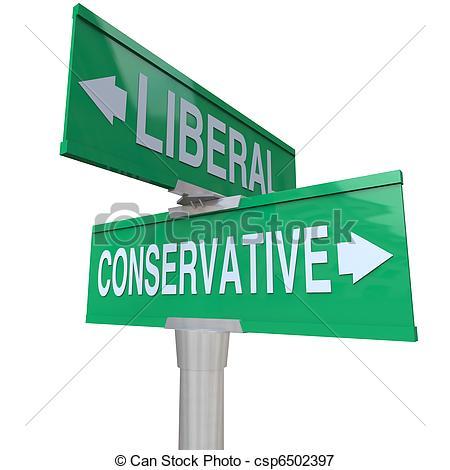 Liberal Conservative Clip Art.