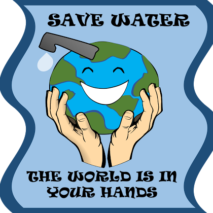 Poster for water conservation ….
