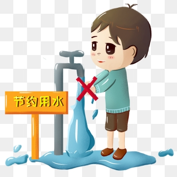 Conserve Water PNG Images.