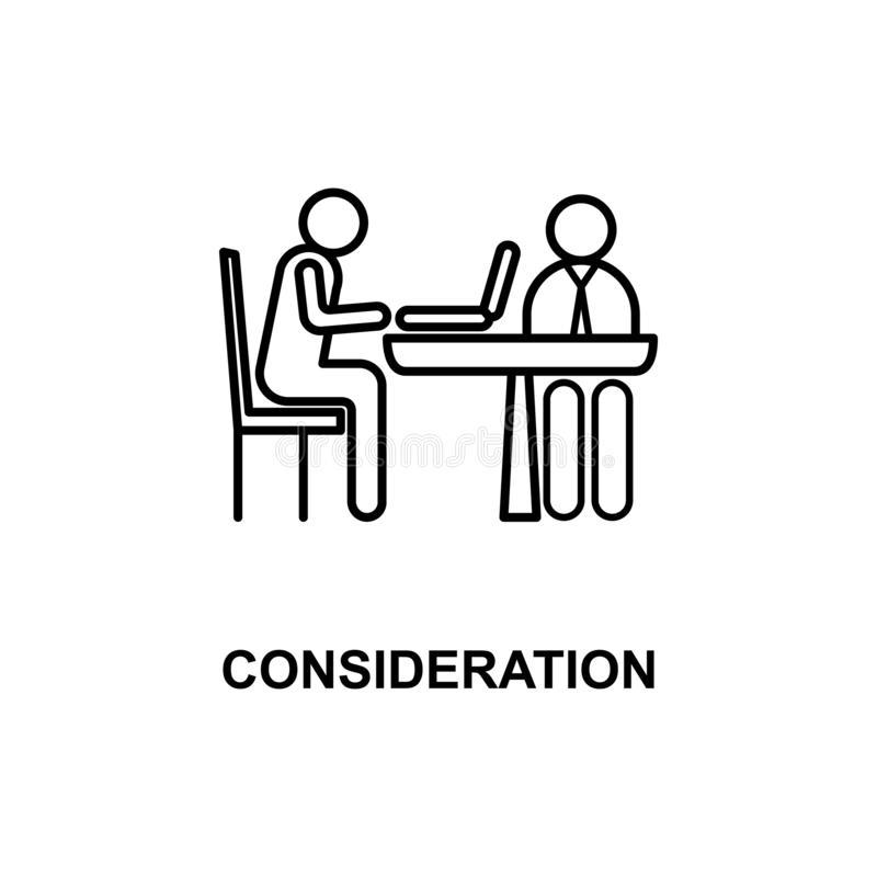 Consideration Stock Illustrations.