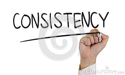 Consistency Stock Photo.