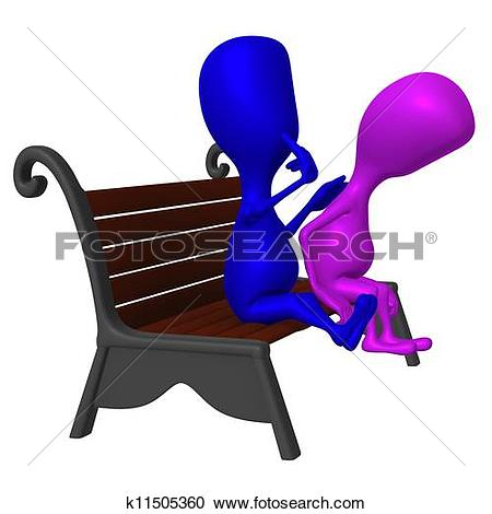 Stock Illustrations of View blue puppet consolation another on.