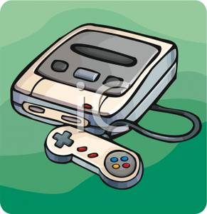 Old School Video Game Console Clipart Image.