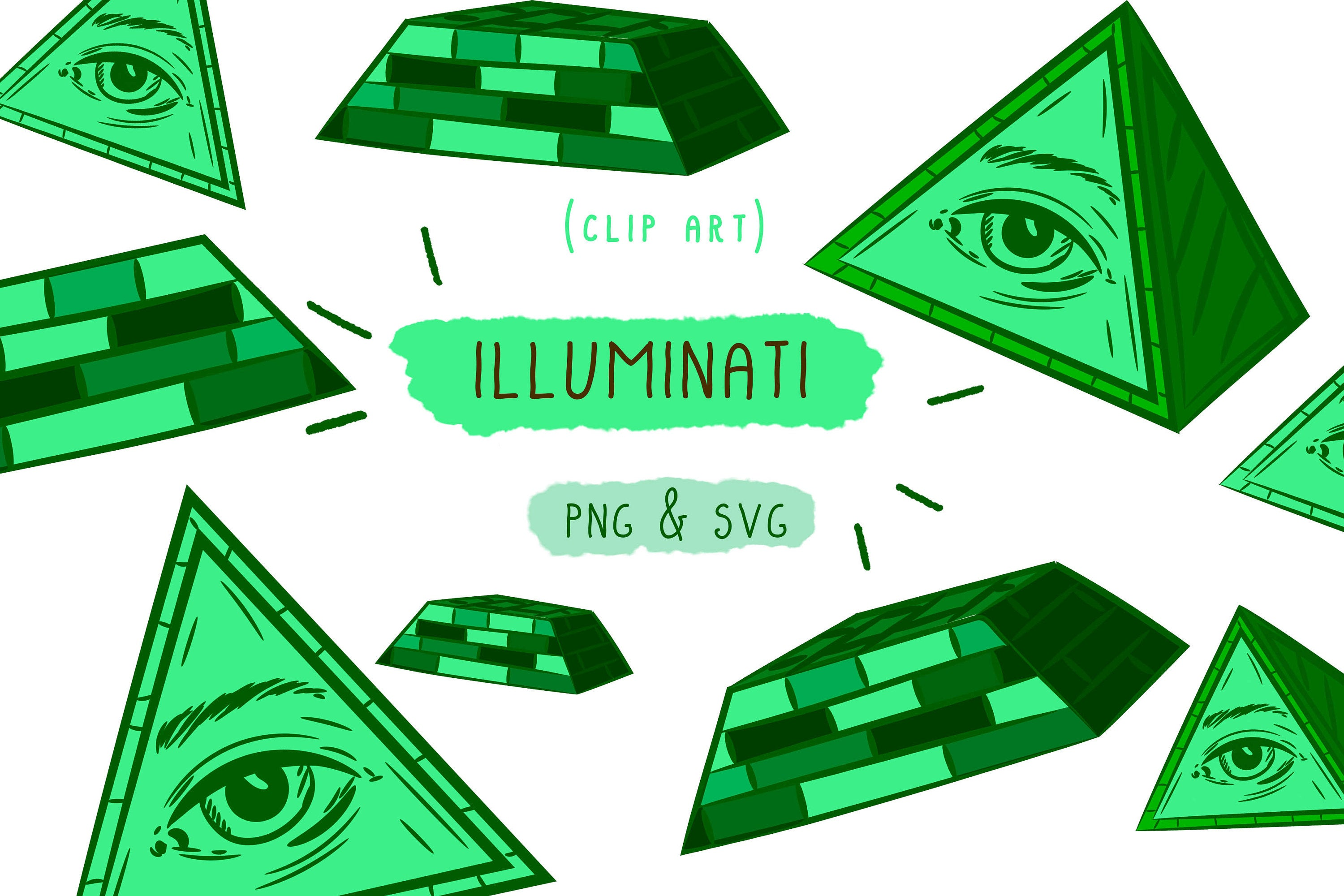 Illuminati Clip Art, Conspiracy Theories, Shane Dawson Vector, PNG SVG,  Digital Clipart, Stationary Youtube, Hand Drawing, Bundle Artwork.