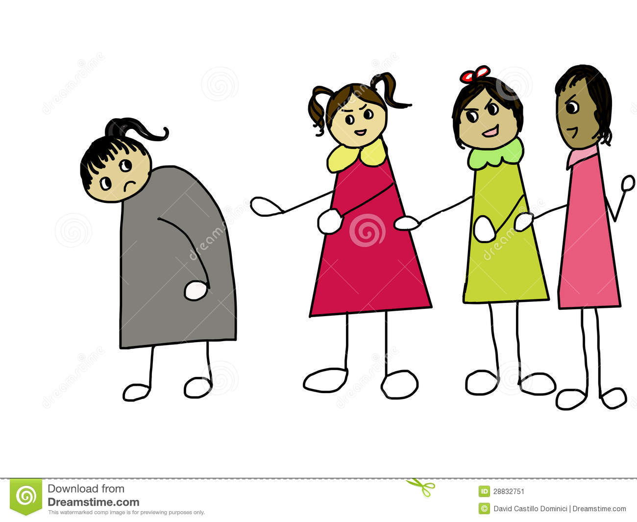 Bully clipart social exclusion, Bully social exclusion.
