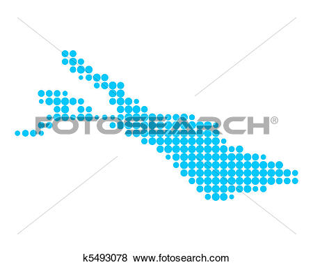 Stock Illustration of Map of Lake Constance k5493078.
