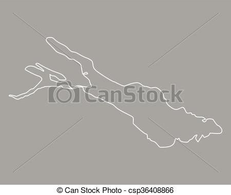 Clip Art Vector of Map of Lake Constance csp36408866.