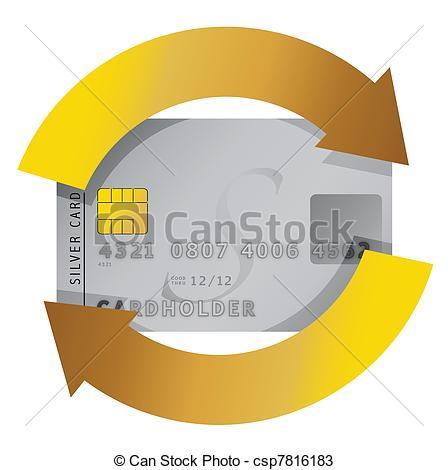 Vectors of credit card constant consumerism concept illustration.