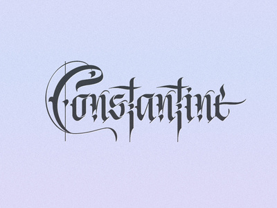 Constantine Logo by Gergana Kovatcheva on Dribbble.