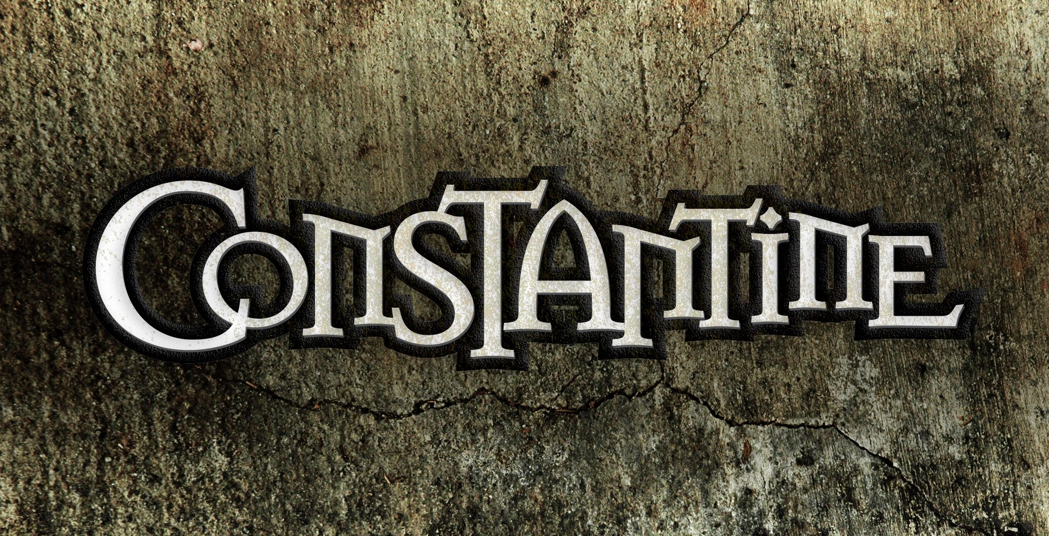 Constantine Logo. John Constantine is a fictional character.