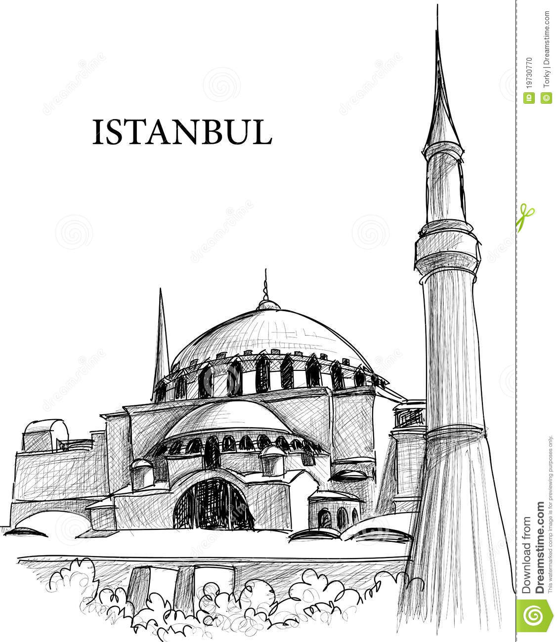 Constantinople Cathedral Clip Art.