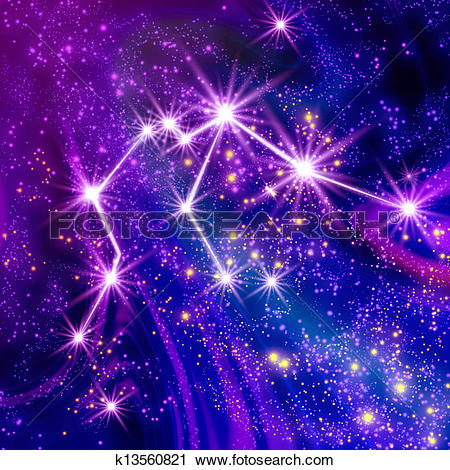 Clipart of Constellation Aquarius k13560821.