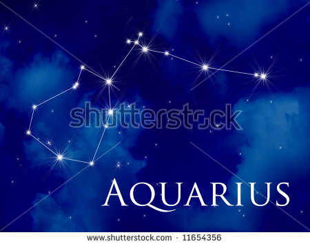 Night Sky Aquarius Constellation Stock Illustration 11654356.
