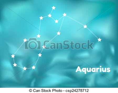 Vector Clip Art of constellation aquarius.