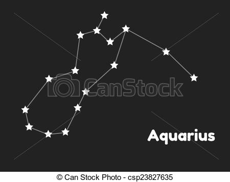 Vectors of constellation aquarius.
