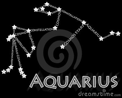 Constellation Aquarius Royalty Free Stock Images.