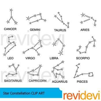 Star constellation clip art.