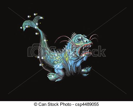 Clipart of Constellation The Hero, rescuer of Andromeda (Perseus.