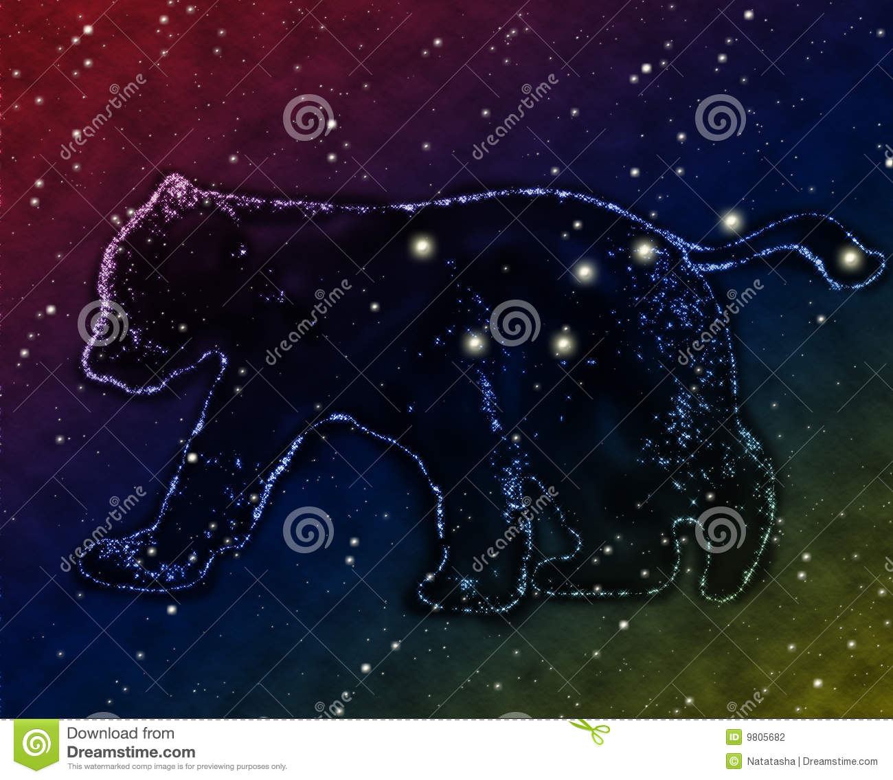 Constellation Of Big Dipper Stock Photography.